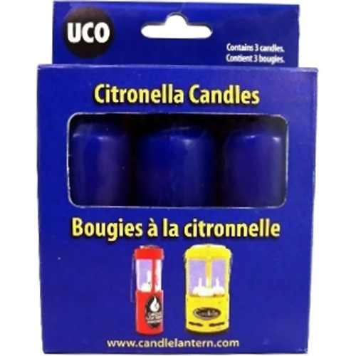 UCO 9 Hour Citronella Candles for Original & Candlelier Lanterns (3 Pack) (UCO UCO31)