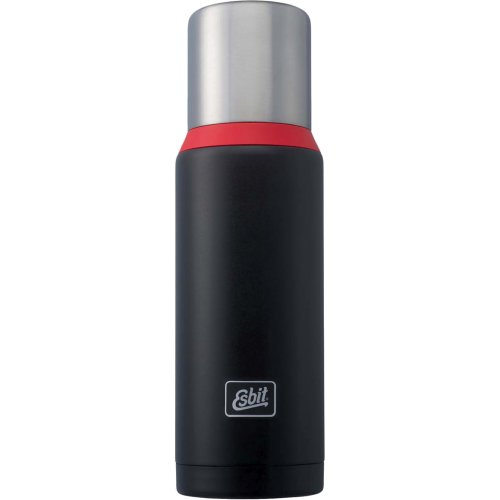 Esbit Stainless Steel Vacuum Flask 1000 ml - Black / Red (Esbit VF1000DW-BR)