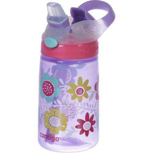 Contigo Gizmo Flip Autospout Water Bottle - 420 ml (Flowers) (Contigo 0467)
