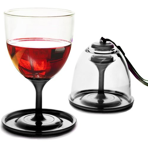 Asobu Stack N'Go Vino 2 Glass Set - Black (Asobu DVT13)