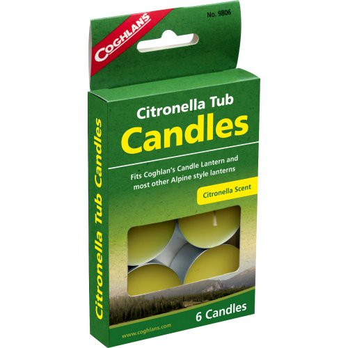 Coghlan's Citronella Tub Candles (Pack of 6) (Coghlan's 9806)