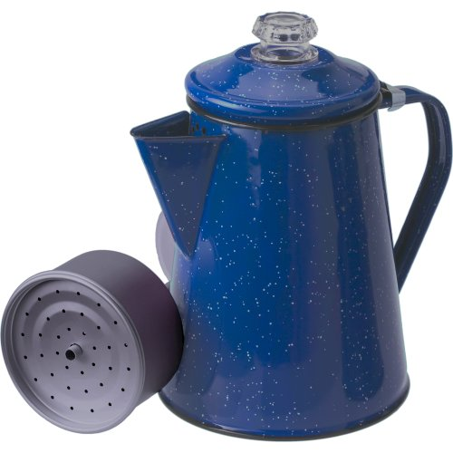 GSI Outdoors Enamelware Coffee Pot with Perculator - Blue (1400 ml) (GSI 15154)