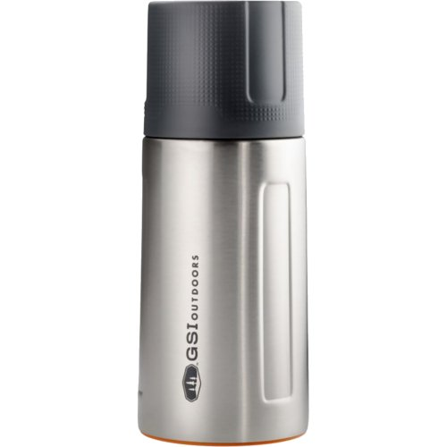 GSI Outdoors Glacier Stainless Steel Vacuum Bottle - Brushed Silver (500 ml) (GSI 67450)