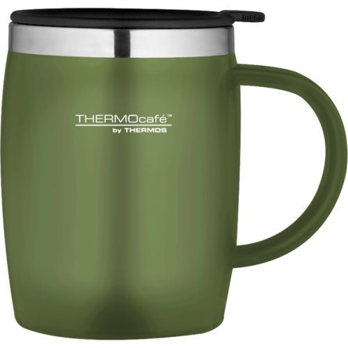 Thermos Thermocafe Soft Touch Desk Mug - 450 ml (Moss Green) (Thermos 170972)