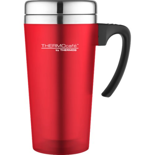 Thermos Thermocafe Translucent Travel Mug - 420 ml (Red) (Thermos 171136)