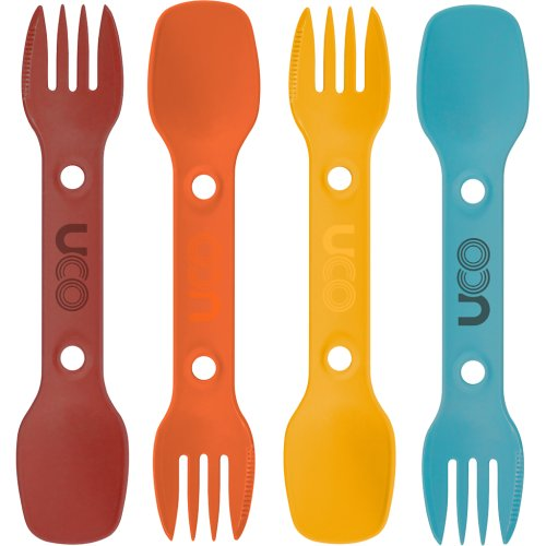 UCO Utility Spork - 4 Pack with Tether (Classic) (UCO)