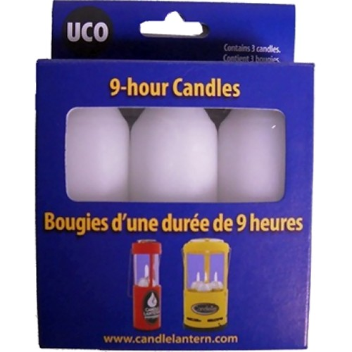 UCO 9 Hour Candles for Original & Candlelier Lanterns (3 Pack) (UCO UCO30)