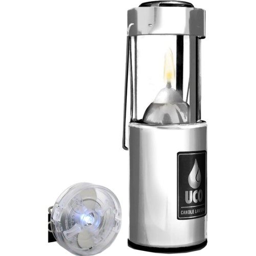 UCO Original 9 Hour Candle Lantern Plus LED Light (Aluminium) (UCO UCO5)