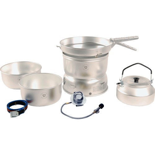 Trangia 25 Series Ultralight Aluminium Cookset and Kettle with Gas Burner (Trangia 25-2UL/GB)