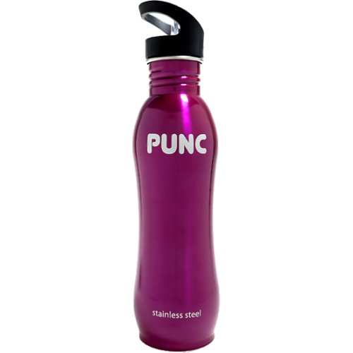 Punc Stainless Steel Curved Bottle - Pink (750 ml) (Punc)