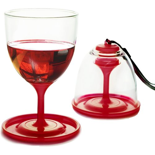 Asobu Stack N'Go Vino 2 Glass Set - Red (Asobu DVT13)