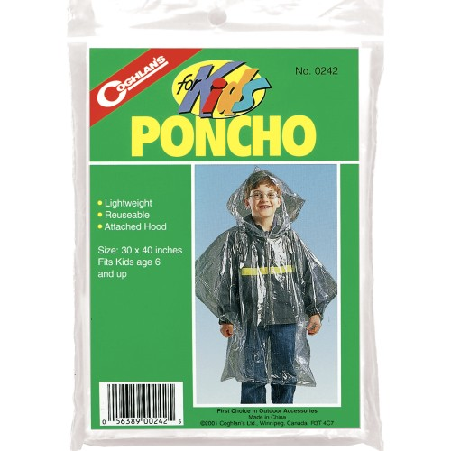 Coghlan's For Kids Lightweight Reuseable Poncho (Coghlan's 0242)