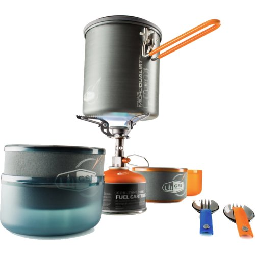 GSI Outdoors Halulite Microdualist Complete Cookset and Stove (GSI Outdoors 50154)