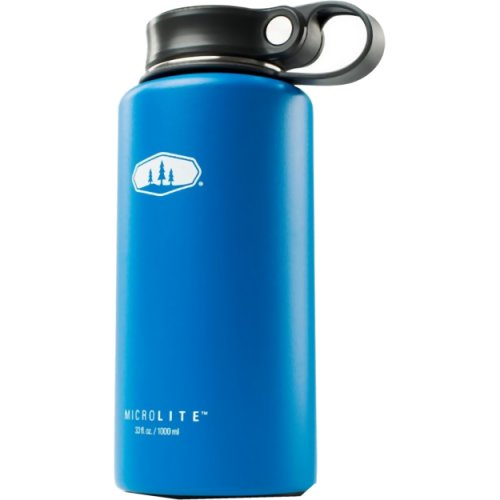 GSI Outdoors Microlite 1000 Twist Vacuum Bottle - 1000 ml (Blue) (GSI Outdoors 67162)