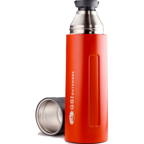 GSI Outdoors Glacier Stainless Vacuum Bottle - Red (1000 ml) (GSI Outdoors 67461)