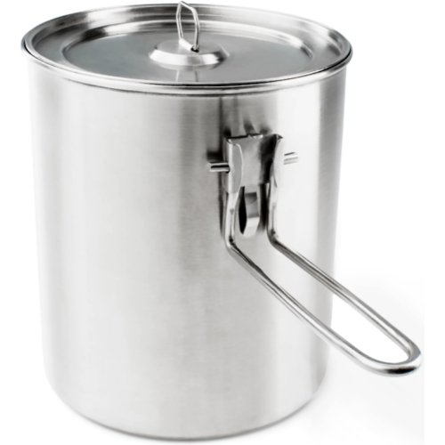 GSI Outdoors Glacier Stainless Boiler Pot (1100 ml) (GSI 68190)