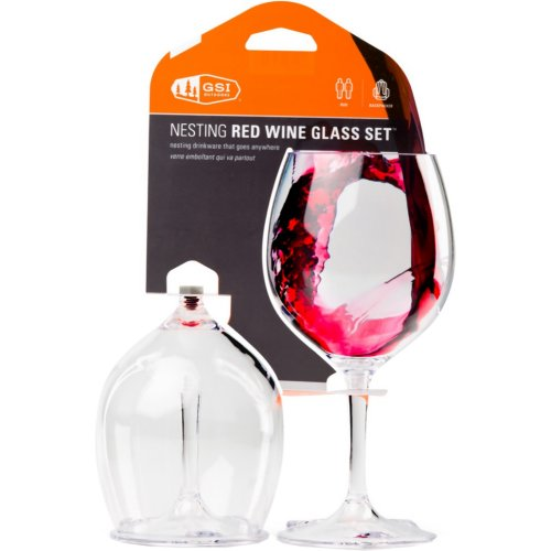 GSI Outdoors Nesting Red Wine Glass Set (2 Glass Set) (GSI Outdoors 79312)