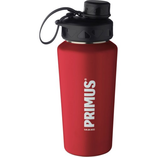 Primus TrailBottle Stainless Steel Water Bottle - 600 ml (Powder Coated Red) (Primus 740150)