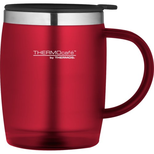 Thermos Thermocafe Translucent Desk Mug - 450 ml (Red) (Thermos 105095)