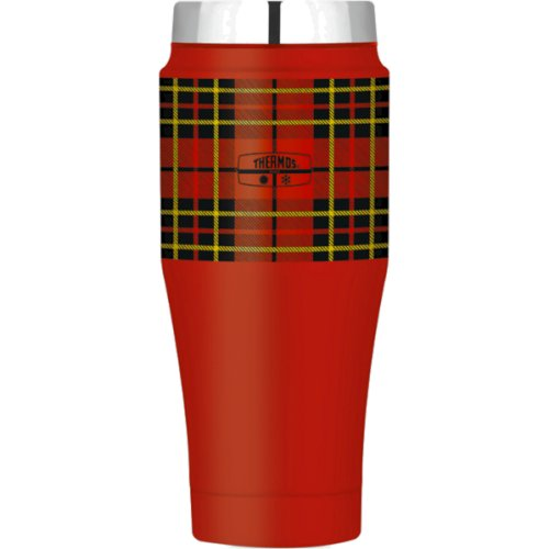 Thermos Fashion Series Stainless Steel Vacuum Tumbler - 470ml (Red Tartan) (Thermos 170256)