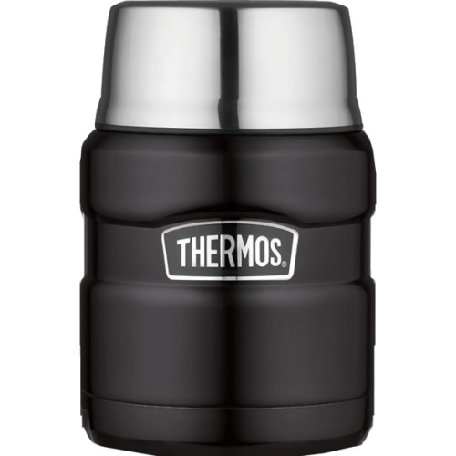 Thermos Stainless Steel King Food Flask - Matt Black (470 ml) (Thermos 190759)